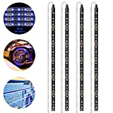 Geeon Blue LED Strip Lights Waterproof for Boats Auto Cars Trailers RV Motorcycle Bike Interior Exterior Lighting 12V 12'' 3528 SMD Pack of 4
