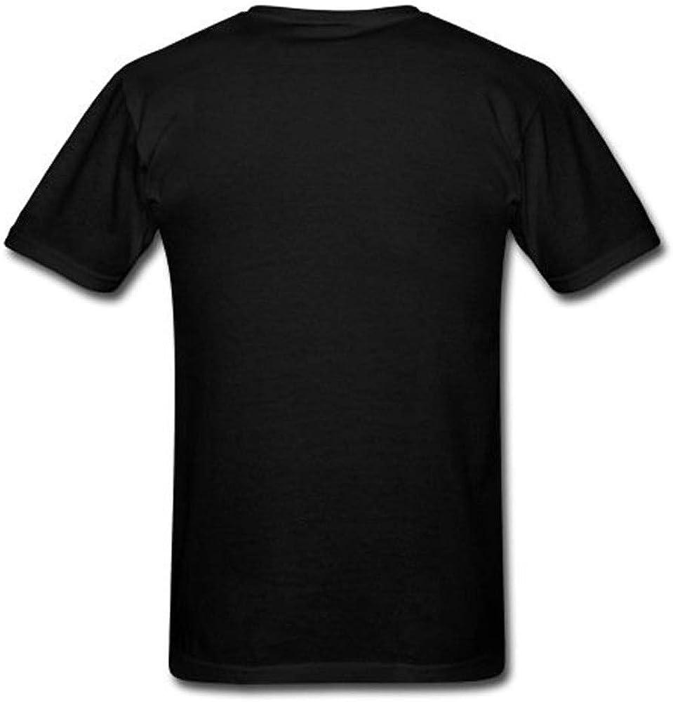 JURTEE Camisas para Hombre Moda Letra Impresión Remera Cuello Redondo Manga Corta Blusa Casual Tops Negro: Amazon.es: Ropa y accesorios