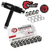 Fireball Dragon Precision Bearings for Skateboards, Longboards, Inline Skates, Roller Skates, Spinners