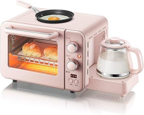 Baibao El Desayuno de la máquina, Retro 3-en-1 Desayuno estación cafetera, Plancha, Horno Tostador, Hace 4 Tazas de café, 2 rebanadas, Multi Función Horno Tostador: Amazon.es: Hogar