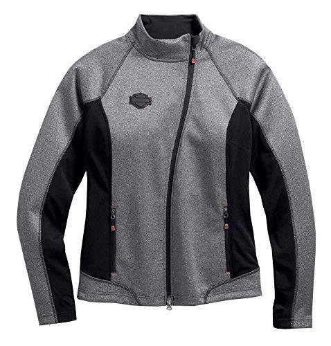 Harley-Davidson Women's Mid-Layer Soft Shell Jacket, Marled Gray 98565-16VW (S) ()