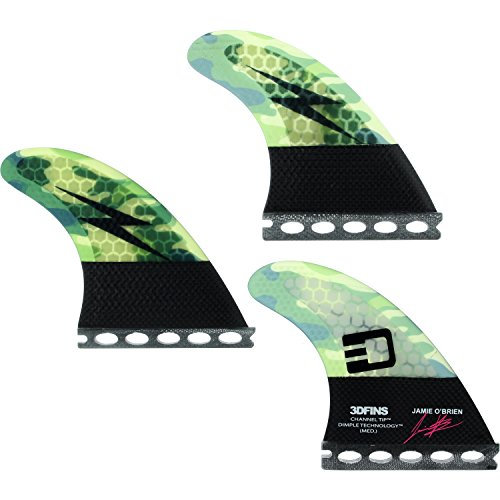 3D Fins O'Brien Channel Tip Tech Camo Med Futures Fin - Brien Surfboards O