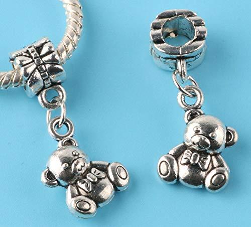 (2pcs Tibetan silver key Charm bead fit European Bracelet Pendant DIY #L148)