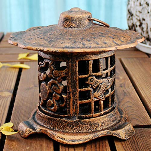 (Creative Wrought Iron Candle Holder Decoration Wall Hanging Candlestick European Retro Cast Iron Hand Lamp)