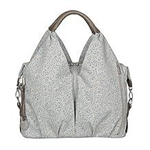 Lassig Green Label Neckline Style Diaper Bag includes Changing Mat, Bottle Holder and Stroller Hooks, Allover Choco Mélange