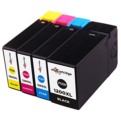 myCartridge 4 Pack Replacement for Canon PGI-1200XL PGI-1200 XL PGI1200XL PGI 1200XL Pigment High Yield Ink Cartridge Compatible with Canon MAXIFY MB2020 MB2320