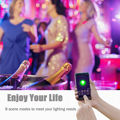 LOHAS Smart LED Bulb, Wi-Fi Light, Multicolored LED Bulbs(UL Listed), A19 LED Dimmable 60W Equivalent(9W), Smartphone Controlled Daylight & Night Light, Home Lighting Compatible with Alexa(1 Pack) by LOHAS (Image #5)