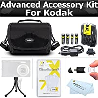 Essential Accessories Bundle Kit For Kodak EasyShare Max Z990 Z5010 Z5120 Digital Camera Includes USB Card Reader + 4 AA High Capacity Rechargeable NIMH Batteries And AC/DC Rapid Charger + Case + More