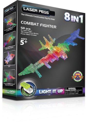 Laser Pegs 8-in-1 Combat Fighter Building Set
