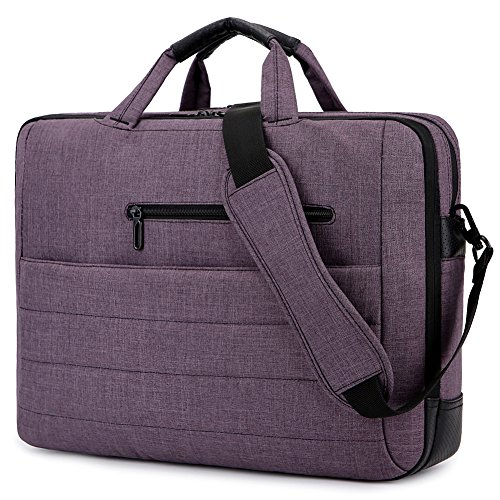 BRINCH New Style 17.3 Inch Nylon Shockproof Carry Laptop Case Messenger Bag For 17 - 17.3 Inch Laptop/Notebook /MacBook /Ultrabook/Chromebook with Shoulder Strap Handles and Pockets (Dark Purple)