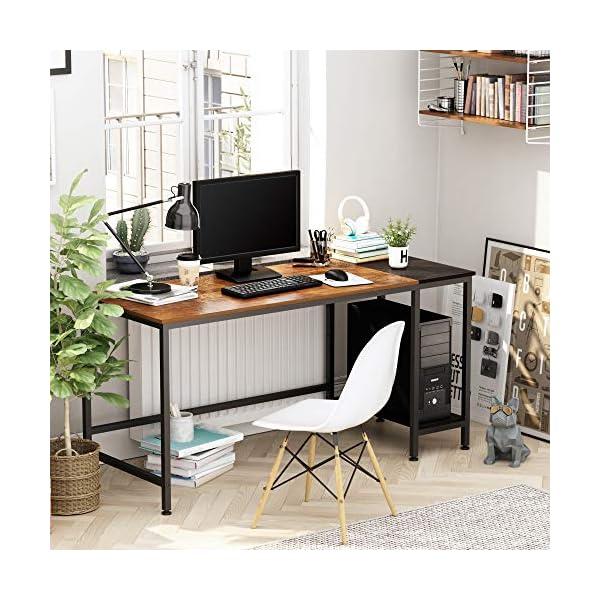 JOISCOPE Bureau d'ordinateur, Table d'ordinateur Portable, Table Industrielle en Bois et métal, Table d'étude avec…
