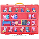 Life Made Better Toy Organizer with Carrying Handle, Fits Up to 40 Figures and Compatible with Peppa Pig Mini Figures, Red