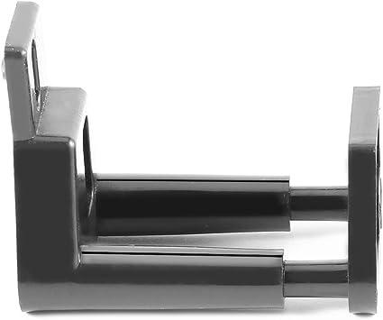 Guía inferior negra con recubrimiento en polvo para montaje en pared para puerta corredera con tornillos: Amazon.es: Bricolaje y herramientas