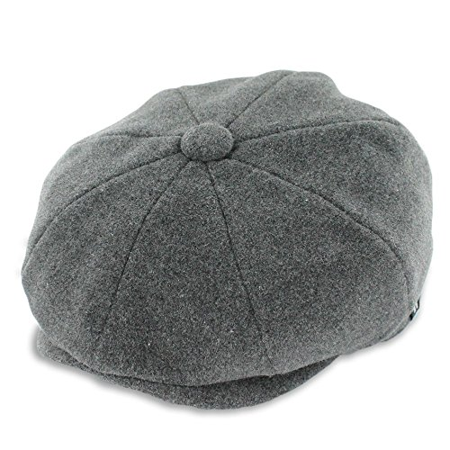 Belfry Groby Men's Soft Wool newsboy Cap In 4 Sizes and 5 Colors (XLarge, Charcoal)
