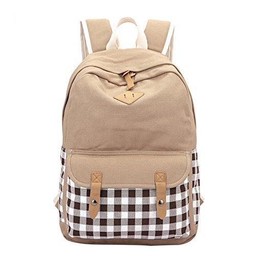 Alger Mujer Mochila Outdoor Bag School Bolsas De Hombro Bolsas, Rosa Khaki