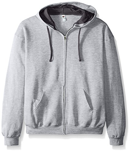 Fruit of the Loom Men's Full-Zip Hooded Sweatshirt, Athletic Heather XX-Large