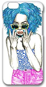 Iphone 6 (PC) Case,Iphone 6 Cases ,Handsome girl wearing sunglasses Custom Iphone 6(4.7)High-grade PC Cases