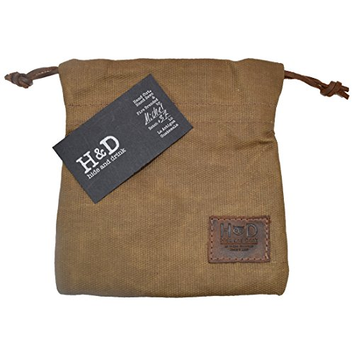 Hide & Drink Waxed Canvas Golf Valuables Field/Travel / Tech/Board Game Dice Pouch Handmade by Fatigue by Hide & Drink (Image #5)