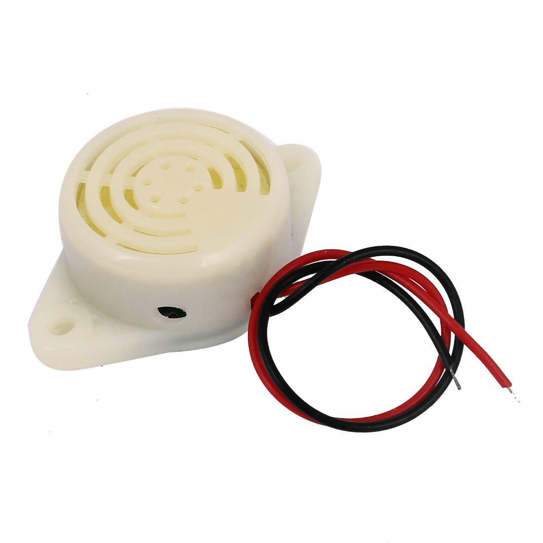 DC 3V-24V miniature é lectronique Filaire Intermittent Buzzer alarme sonore Sourcingmap a15032300ux0100