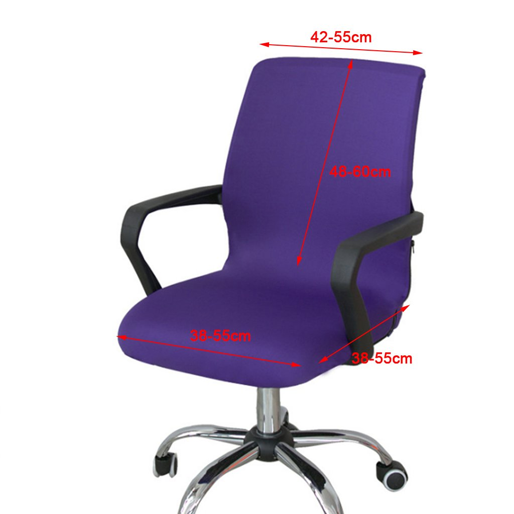 as described Brown MagiDeal Elastic Swivel Chair Slip Covers Adjustable Home Office Furniture Computer Desk Seat Covers