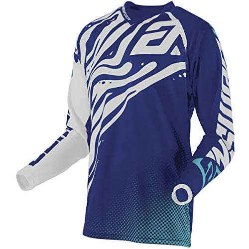 (Answer Racing A19.5 Syncron Flow Men's Off-Road Motorcycle Jersey - Reflex Blue/Astana/White/Medium)
