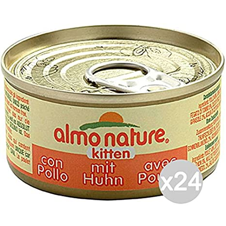 Almo nature Juego 24 Gato 5105 Lata 70 Kitten Junior Comida para Gatos: Amazon.es: Productos para mascotas