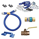 TableTop King 16125KIT48PS Deluxe SnapFast 48'' Gas Connector Kit with Safety-Set - 1 1/4'' Diameter