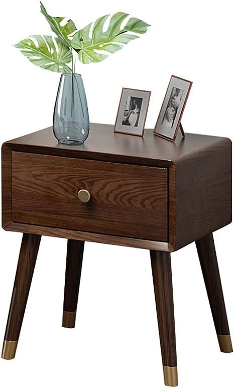 Wang Xin Bedside Table Solid Wood Simple Ash Walnut Bedroom Light Furniture Amazon De Kuche Haushalt