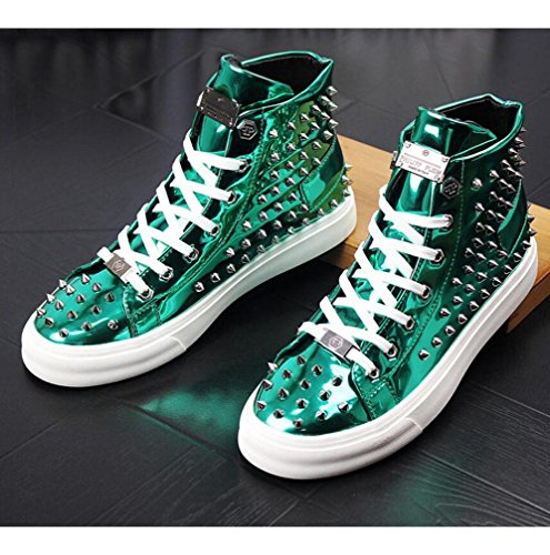 luminosa scarpe scarpe superficie suola da casual rivetti scarpe in nelle alte uomo 42 Scarpe con spessa WSK Martin vernice nBxRR6