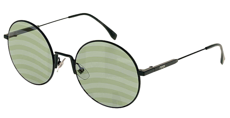 7971b65d067f Amazon.com  Fendi FF0248 S Sunglasses Green w Green Wave Patten Lens 53mm  1EDXR FF0248S FF 0248S FF 0248 S  Clothing