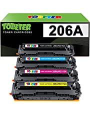 ToBeter Compatible Toner Cartridge Replacement for HP 206A 206X W2110A W2110X for HP Color Laserjet Pro MFP M283fdw M255dw M283cdw M283 M255 Printer (1 Black 1 Cyan 1 Magenta 1 Yellow)