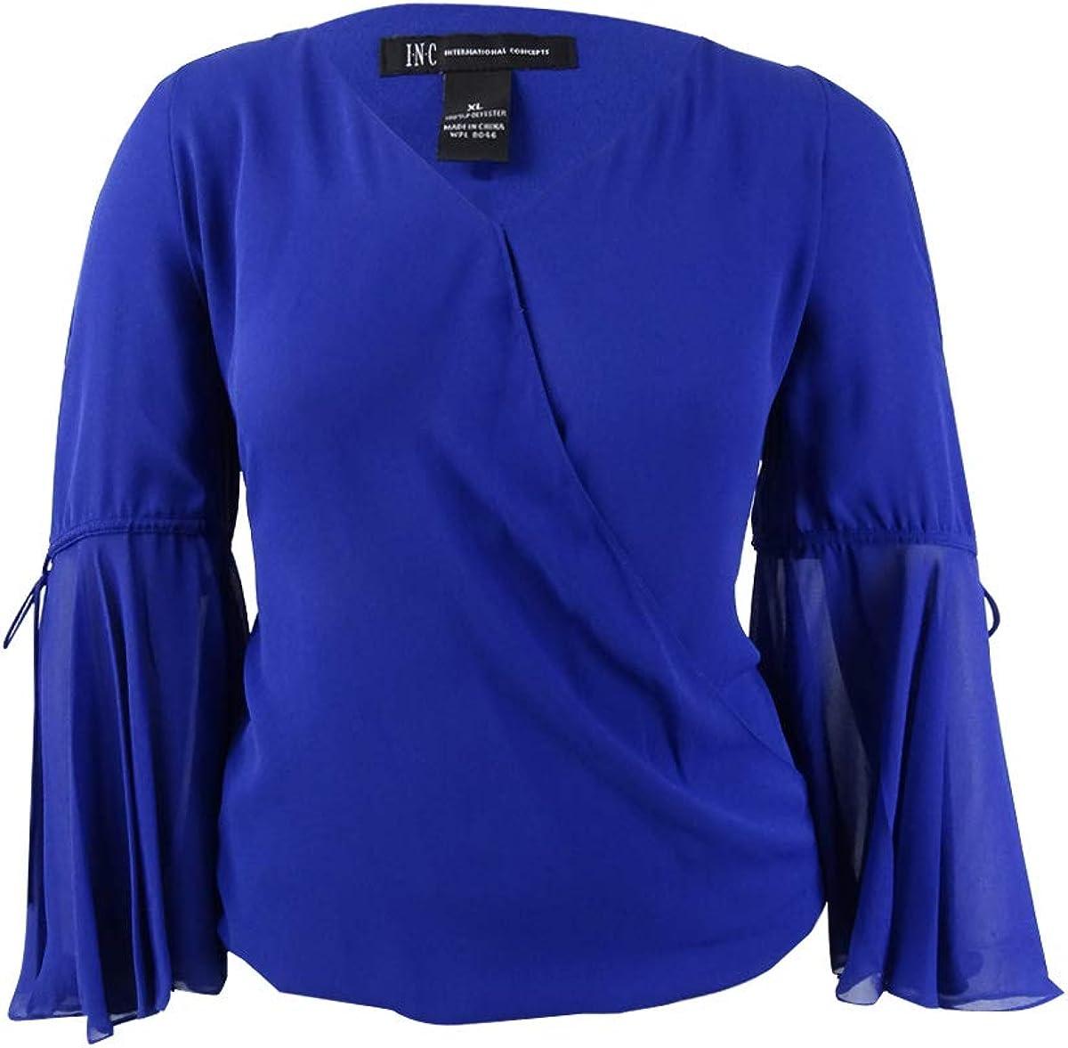 I-N-C Womens Cold Shoulder Knit Blouse