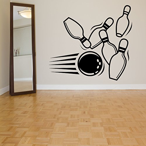 Wall Room Decor Art Vinyl Sticker Mural Decal Bowling Pin Ball Alley Game Sport Poster Logo Sign Big (Bowling Alley Signs)