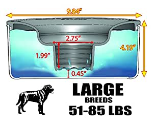 e32118d15c4506 Pet Supplies : Slopper Stopper Dripless Dog Water Bowl - Large Breed ...