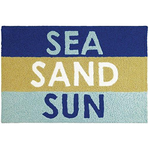 Jellybean Sea, Sand, & Sun Coastal Indoor/Outdoor Machine Wa