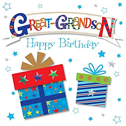 Image Unavailable Not Available For Color Great Grandson Happy Birthday Greeting Card