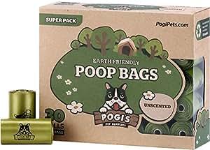 Pogi's Poop Bags - 30 Unscented Rolls (450 Bags) - Leak-Proof Dog Waste Bags