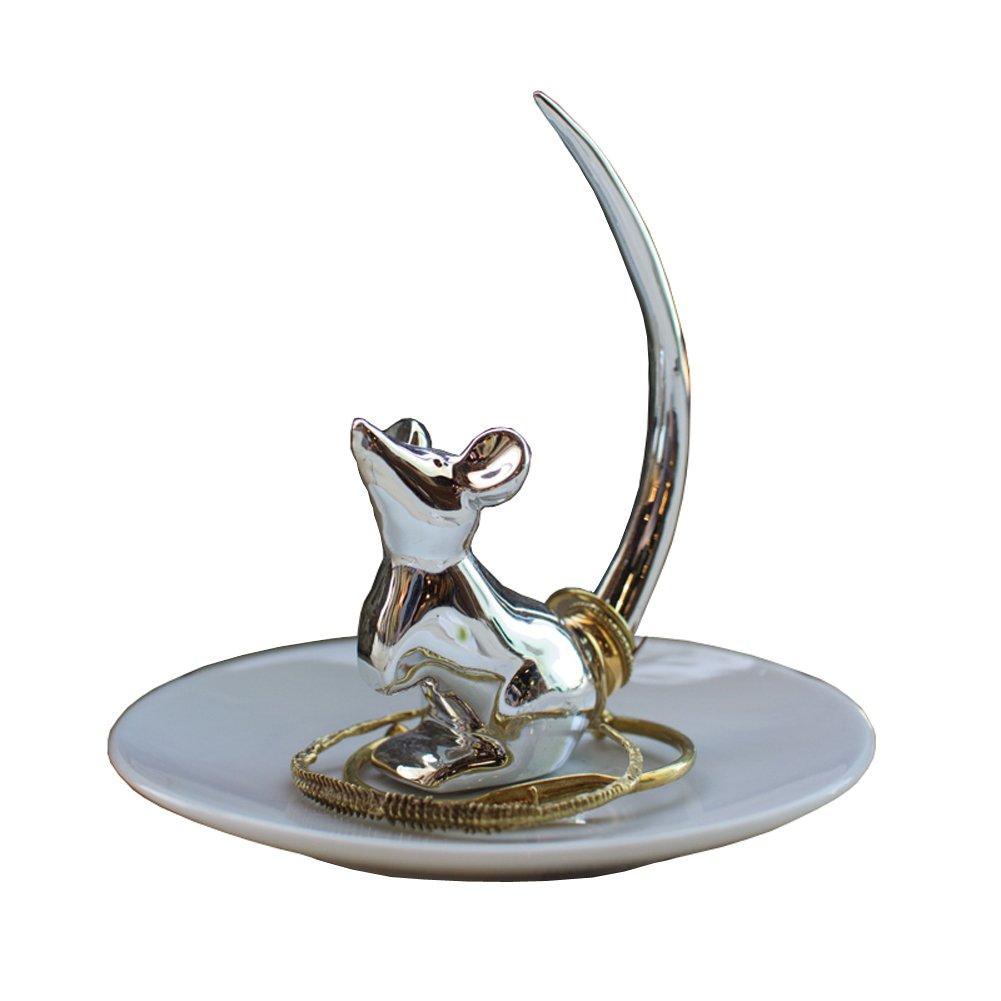 Ceramic Mouse Ring Holder