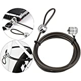 Laptop Lock Notebook Lock Computer Lock Security Cable Lock Keyed Cable Lock for Laptops Desktop Notebook & Other Device