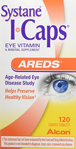 ICaps AREDS Formula Dietary Supplement Coated Tablets, 120 Count Bottle (Packaging May Vary) For Sale