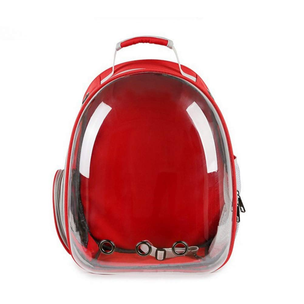 Red 42x31x28cm Red 42x31x28cm ZIOFV Package New Breathable Portable Pet Cat Carrier Bag Outdoor Travel Puppy cat Bag Transparent Space Pet Backpack 31  28  42cm