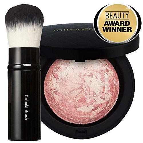 847cfddbb9d Mirenesse Cosmetics Marble Mineral Blush 1. Paros Pink + Kabuki Brush  12G/.42Oz - Authentic