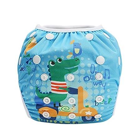 5890dbe40 Hi Sprout Unisex Snap reutilizable bebé absorbente Swim Pañales ajustable  talla única Baby Crocodile  Amazon