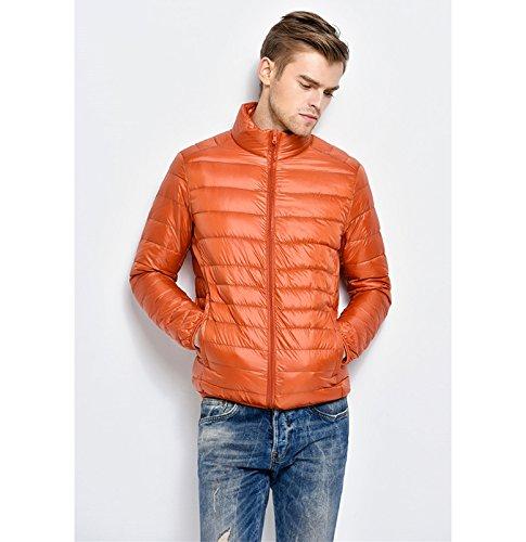 Padded Jacket Lightweight Down Mens Coat Warm Orange Packable Lovache 6pYTw6q
