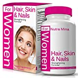 Hair, Skin and Nails Vitamins for WOMEN, Strengthening Formula With Biotin To Support Natural Hair Growth, Vibrant Skin & Strong Nails, Daily Multivitamin Made In USA – 60 Veggie Capsules For Sale