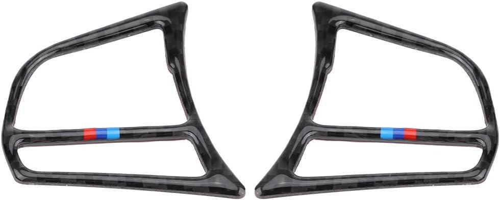 KIMISS Premium Volant Bouton Cadre En Fiber De Carbone Couverture Garniture Autocollant pour F30 3 S/érie 2013-2018 B