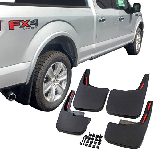 Luyao Mud Flaps Mud Guards Splash Flares 4 Piece Front & Rear Fits 2015-2018 Ford F-150