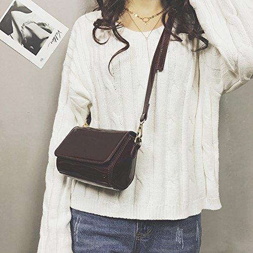 Ome & Qiumei Mini Pack Package Packet Pack Black Female Bag Single Package Diagonal Red Wine