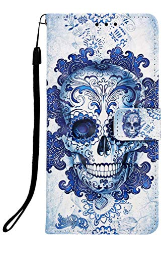 Wiitop Compatible with Samsung Galaxy A2 Core Case,SM-A260F/DS Phone Cover 2019 3D PU Leather Wallet Heavy Duty Full Body Protective Credit Card Slot Magnetic Closure Kickstand Accessories Cloud Ghost