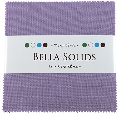 - Bella Solids Lilac Moda Charm Pack By Moda Fabrics; 42-5